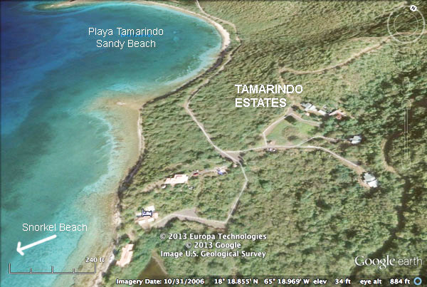 Aerial photo of                             Tamarindo region