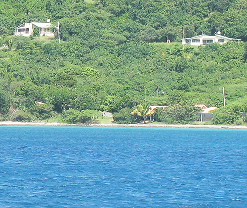 View of the Tamarindo Estates           from the sea