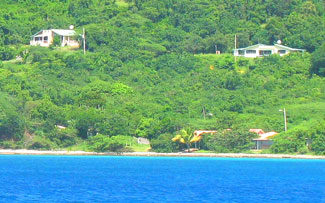 beach house                     seen from sea