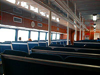Inside ferry boat