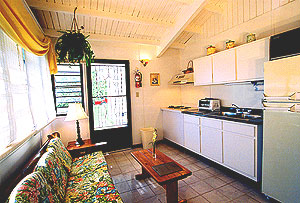 Living-kitchen area of cottages